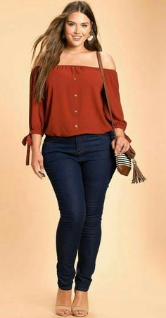 Roupas plus size, plus size outfits, curvy girl outfits, plus size casual, Outfit Essentials, Looks Plus Size, Look Plus, Mode Outfits, Casual Outfits, Fashion Outfits, Fashion Ideas, Fashion Blouses, Women's Blouses