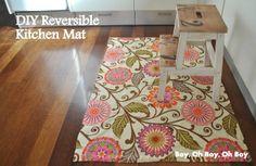 DIY Reversible Kitchen Mat - so so easy!