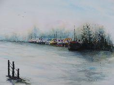 Watercolour by Danny Meyers- Belgium- via pinterest