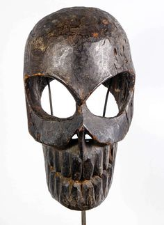 Nepal death mask | From a unique collection of antique and modern masks at https://www.1stdibs.com/furniture/folk-art/masks/