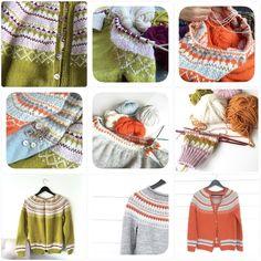 #kofteinspirasjon #gretekofte #gretegenser #bystrikk #fargeinspirasjon Strikket i #sterk fra @dustorealpakka og vi har alle fargene i nettbutikken👌🏻 Knitting, Tricot, Breien, Stricken, Weaving, Knits, Crocheting, Yarns, Knitting Stitches