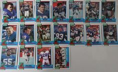 1990 Topps Buffalo Bills Team Set of 18 Football Cards #BuffaloBills