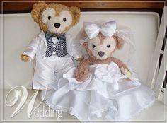 The happy couple Mr and Mrs Disney Bear.