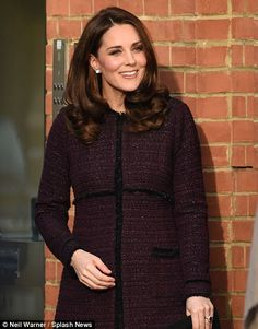 The Duchess looked glowing as she arrived for the visit