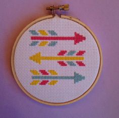 Colorful Arrows Cross Stitch by MarenRoseMarket on Etsy
