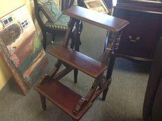 Foot Stool - All wood footstool    Item 510-29.  Price  $70.00   - http://takeitorleaveit.co/2014/09/24/foot-stool/