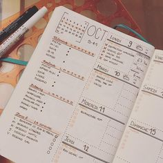 Bullet journal weekly layout, weather tracker, meal planner. @anie_aime