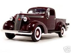 1937 Studebaker Express Pickup Burgundy 1/18 Diecast Model Car by Road Signature