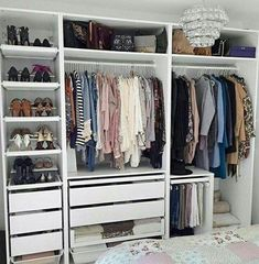 Build your storage system for a walk-in closet. Building a walk-in closet in a small bedroom may seem like an impossible dream, but it's pretty easy to do.