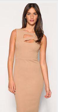 ASOS Cut Out Front Ponit Pencil Dress, $67