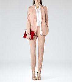 Indi Soft Amber Long Line Blazer - REISS