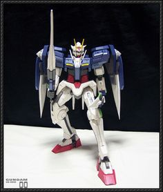 Very Detailed GN-0000 00 Gundam Free Paper Model Download - http://www.papercraftsquare.com/detailed-gn-0000-00-gundam-free-paper-model-download.html