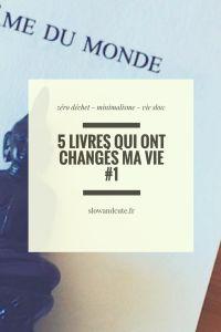 5 livres qui ont changés ma vie #1