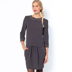 Robe finition biais coloris or MADEMOISELLE R