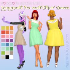 Once upon a time @nolan-sims was reflecting on her sordid past and she showed me this. Anyhow! I had to make it and then I made a few other things inspired by Modcloth.com the dress was/is available here. [[MORE]]• New mesh, should be BGC • All 22...