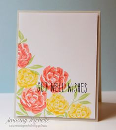 From Amusing Michelle Blog : Gorgeous colours and stamps using WPlus9 Pretty Peonies.