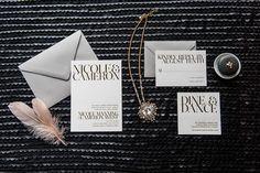 Foiled Invitations // Gramercy Foiled Wedding Invitation // Foil, modern, chic, sophisticated invitation