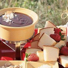 Chocolate Coconut-Cream Fondue | MyRecipes.com