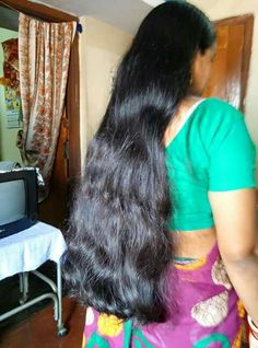 Long Black Flowing Hair was cut ten inches.after the service I didn't didn't know if I like her new haircut or massive hair on the floor.she likes it Long Silky Hair, Long Black Hair, Super Long Hair, Long Hair Cuts, Long Hair Styles, Indian Hair Cuts, Long Indian Hair, Hair Flow, Loose Hairstyles
