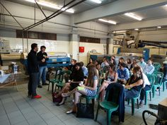 Students from Kelley Indiana University taste olive oil in our olive mill, as they follow the instructions of Mr. Koutsoukos Nikos.