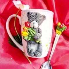 Обожаемые мной мишки Тедди полюбились и моим заказчикам Ну и конечно же весенние цветы - тюльпаны дополняют эту милую композицию Как…