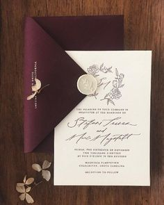 vintage ivory wedding ceremony invitation with burgundy envelope marriages marriage ceremony weddingideas deerpearlflowers Ivory Wedding Invitations, Wedding Invitations Elegantes, Traditional Wedding Invitations, Vintage Wedding Invitations, Wedding Invitation Cards, Wedding Stationery, Wedding Cards, Diy Wedding, Cheap Invitations