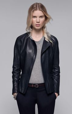 Theory Enora Leather Jacket