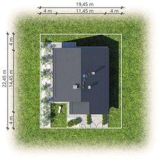 DOM.PL™ - Projekt domu AT Bursztyn IV CE - DOM AI4-24 - gotowy koszt budowy Beams, Bathroom Lighting, How To Plan, Mirror, Home Decor, House Floor Plans, Bathroom Light Fittings, Bathroom Vanity Lighting, Decoration Home