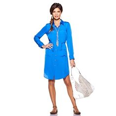 Queen Collection Drawstring Tunic Dress at HSN.com.
