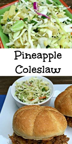 Pineapple Coleslaw- omitted pineapple pieces & subbed OJ for pineapple juice