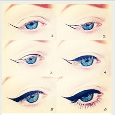 How To achieve winged eyeliner! Easy. I love STILA Stay All Day Waterproof Liquid Eyeliner. #HowTo #Makeup