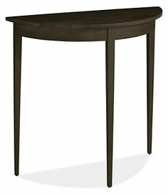 Adams 30x12 29h Half-Round Console Table in Maple with Charcoal -