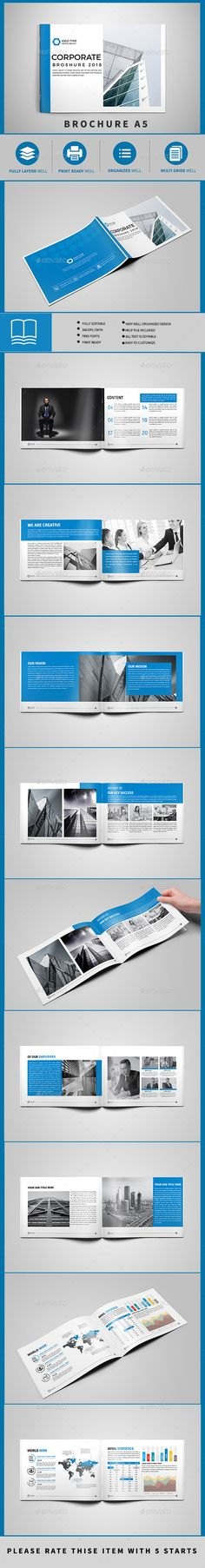 Brochure Template InDesign INDD - 16 Pages A5