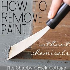 How to remove Paint from Furniture without Chemicals