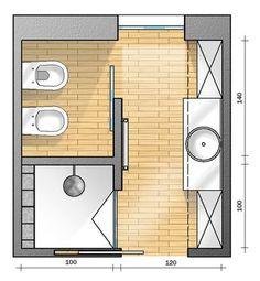 zona wc separata?!   Progetto-bagno quadrato 6mq