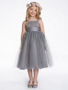 Grey flower girl dress | Girls grey dress | Timeless | Paris | Roco