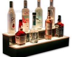 Whether you're looking to add bar shelves to your home bar or a liquor display for your commercial bar, our led lighted bottle displays are the perfect solution Bar Shelves, Display Shelves, Liquor Shelves, Shelving, Liquor Cabinet, Shelf, Liquor Bar, Liquor Bottles, Deco Led