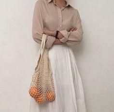 white full length skirt