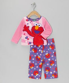Take a look at this Pink & Purple Elmo Fleece Pajama Set - Infant & Toddler by Sesame Street on #zulily today!