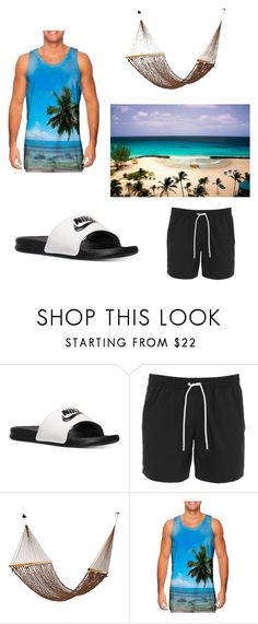 """Men's Vacation 101"" by guypagani ❤ liked on Polyvore featuring NIKE, Lacoste, men's fashion and menswear"
