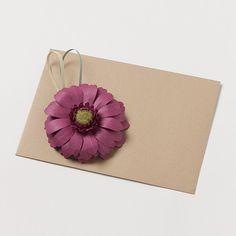 kotonoha+ bloom ガーベラ 紫【A】 #封筒 #ペーパークラフト #封筒女子部 #プレ花嫁 #花 #ハレの日