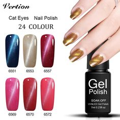 Verntion 24 Colors Metal Lucky Cat Eyes Gel Polish Magnetic Cat Eye Gel Polish Semi Permanent Gel Varnish Cat Eye Nails Gel  Price: 1.00 USD