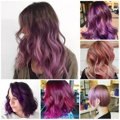 Image result for purple and blonde hair straight