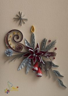 quilled Christmas motif