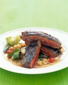 """See the """"Skirt Steak with Poblano Sauce"""" in our Grilling Recipes gallery"""