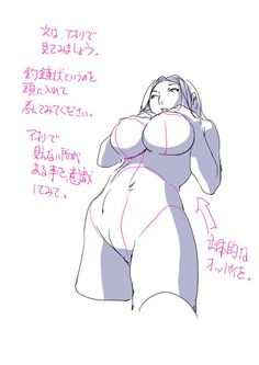 How to draw manga - Exaggerated female breast (http://img.hb.aicdn.com/99d18d0ebecb0d32d2196ef3b4de889e5d252cda198c2-kUOHOG_fw658) ★ || CHARACTER DESIGN REFERENCES | マンガの描き方 • Find more artworks at https://www.facebook.com/CharacterDesignReferences http://www.pinterest.com/characterdesigh and learn how to draw: #concept #art #animation #anime #comics || ★