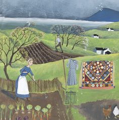 'Tending To The Veggies' By Painter Valeriane Leblond. Blank Art Cards By Green Pebble. www.greenpebble.co.uk