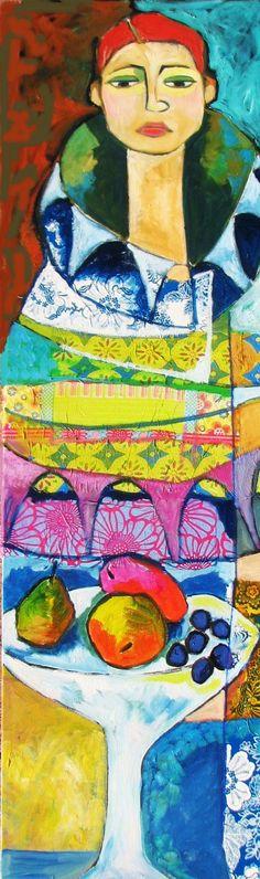 Peinture et collage de Suzanne peint.