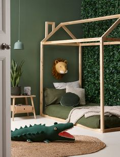 Baby Room Ideas 38913 children's room deco jungle trophy lion sage green paint h. - Baby Room Ideas 38913 children's room deco jungle trophy lion sage green paint hut bed in little - Bedroom Green, Baby Bedroom, Nursery Room, Boys Jungle Bedroom, Jungle Theme Bedrooms, Safari Bedroom, Jungle Theme Nursery, Kids Bedroom Boys, Room Baby