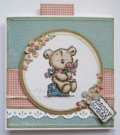 LOTV - Happy Bears Stamp Set with Sentiment Tags and Family Sentiment Tags by Kat Waskett
